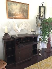 Vintage Duncan Phyfe style desk & cabinet set
