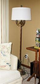 heavy base vintage floor lamp
