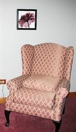 wing back chair   BUY IT NOW  $ 85.00