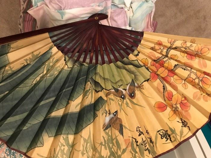 Signed Japanese Fans