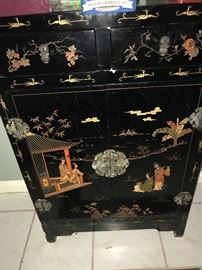 Beautiful Black Lacquer Chest