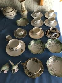Old German and French Tea Cup Sets