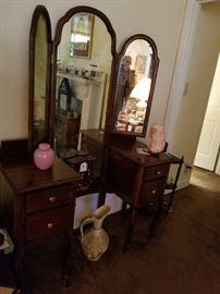 Antique vanity w/ mirror