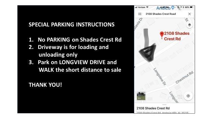 no parking on shades crest