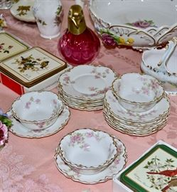 Tables of Vintage Ceramics and Glassware