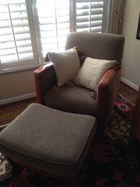 Teak upholstered chair