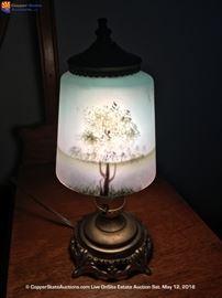 Beautiful Hand Painted Vintage Lamp