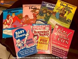 Vintage Party Game Books