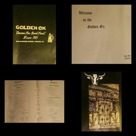 Golden Ox Menu