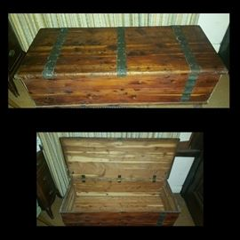 Beautiful and aromatic cedar chest