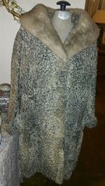 Lambs Wool Women's Vintage Coat