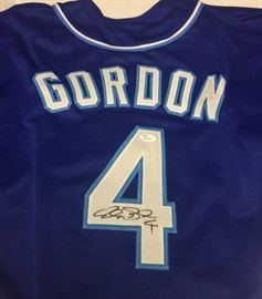 Signed Alex Gordon Kansas City Royals #4 Custom Je ..