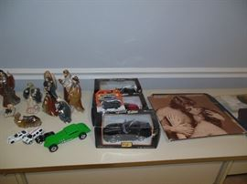 Diecast cars and albums