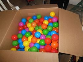 Huge lot of childrens balls for ball pits