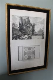 Antique etching by Giovanni Battista Piranesi