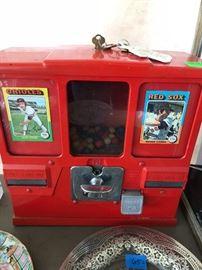 baseball card gumball machine