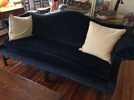 Gorgeous Navy Blue Ethan Allen sofa. Excellent condition!