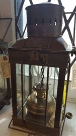 One of two nautical brass 1939 Cargo Lights from Great Britain