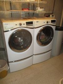 Whirlpool Duet front loading washer and dryer set, like new condition, 5 years old