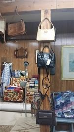 Over 20 purses - all name brands and most are Etinne Aigner and Fossill brands.  Better come early these are priced to sell!