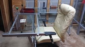 Iron and Glass Desk in perfect condition purchased from a very high end Office Furniture store.