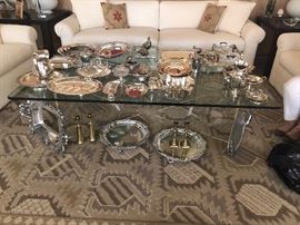 Group of silver, silver plate and pewter