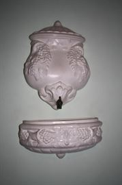 Ceramic Wall Planter, made to look like water feature