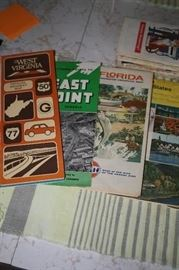 Road Maps from the 60's and 70's