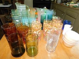 Mid Century Modern glass / barware.