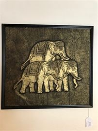 Framed Thai Temple Rubbing