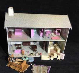 Metal Tin litho Dollhouse