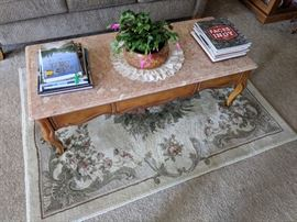 marble-top coffee table