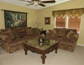 The Estate Collection By Universal Furniture Living Room Set; Sofa, Love Seat, Coffee/End Table