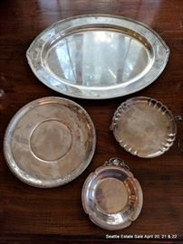 Assorted Sterling Silver Platters