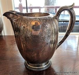 Gorham Sterling Silver 4.5 pint water pitcher.