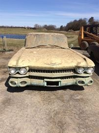 1959 Cadillac. Body in great shape.