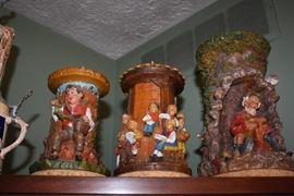 German carved candles