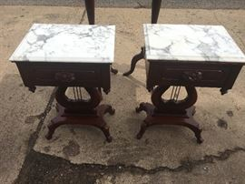 Antique marble top tables
