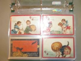 Over 50 Halloween cards, priced individually, but to be sold at 50% of marked price