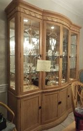 China cabinet full of crystal