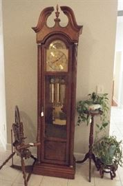 Grandfather clock & plant stands