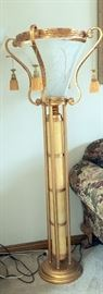 2 available outstanding large Torchiere lamp