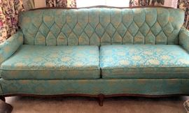 Brocade Mid Century Couch