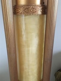 Close up of Torchiere lamp base