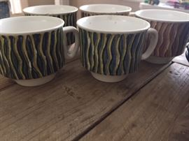 mid-century, rare Regina ware (Dutch) coffee cups