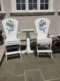 Lifeguard Style high chairs with matching table