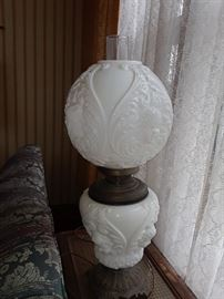 Our Cherub Gone with the Wind lamp, Super large. Both parts light up.