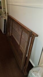 Antique military wooden cot