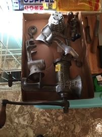 meat grinder and meat cutter