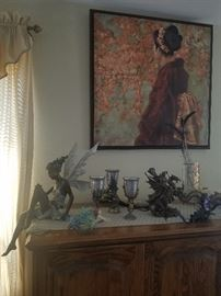 Many figurines and collectibles